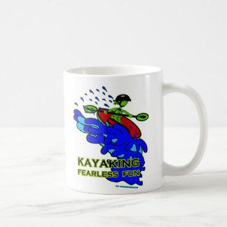 Kayaking Fearless Fun Gifts Basic White Mug