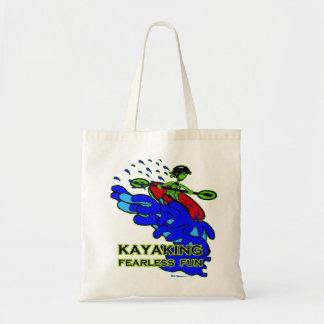 Kayaking Fearless Fun Gifts Budget Tote Bag
