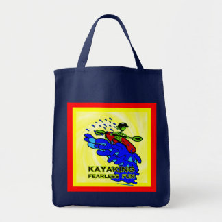 Kayaking Fearless Fun Gifts Canvas Bags