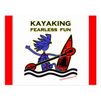 Kayaking Fearless Fun Postcard