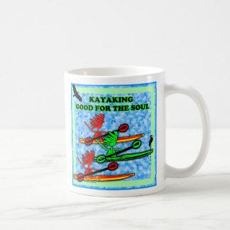 Kayaking Good For The Soul Basic White Mug