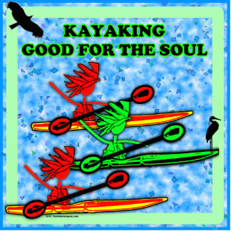 Kayaking Good For The Soul Standing Photo Sculpture