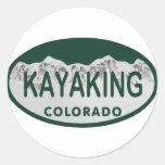 Kayaking license oval round sticker