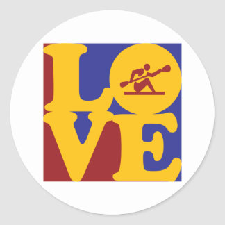 Kayaking Love Round Sticker