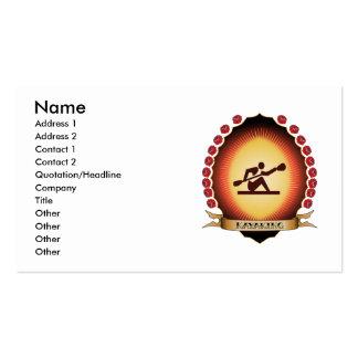 Kayaking Mandorla Pack Of Standard Business Cards