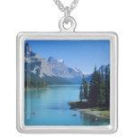Kayaking on Maligne Lake at Spirit Island Personalized Necklace