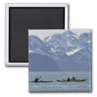 Kayaking on Resurrection Bay Square Magnet