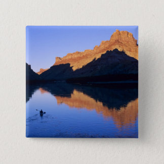 Kayaking on the Colorado River in Spanish 15 Cm Square Badge
