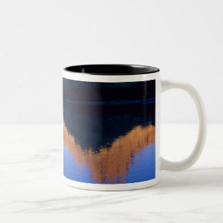 Kayaking on the Colorado River in Spanish Two-Tone Coffee Mug