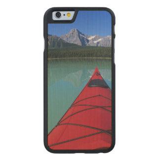Kayaking on Waterfowl Lake below Howse Peak Carved® Maple iPhone 6 Case