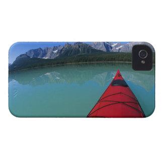 Kayaking on Waterfowl Lake below Howse Peak iPhone 4 Case-Mate Case