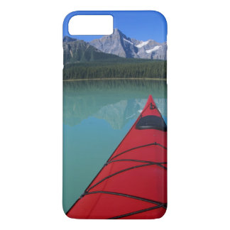 Kayaking on Waterfowl Lake below Howse Peak iPhone 7 Plus Case