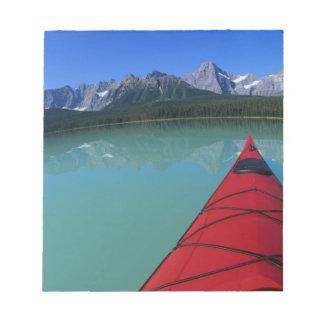 Kayaking on Waterfowl Lake below Howse Peak Notepad