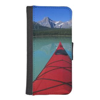 Kayaking on Waterfowl Lake below Howse Peak Phone Wallet Case