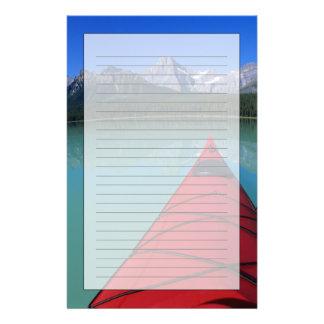 Kayaking on Waterfowl Lake below Howse Peak Personalized Stationery