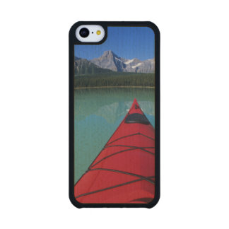 Kayaking on Waterfowl Lake below Howse Peak Maple iPhone 5C Slim Case
