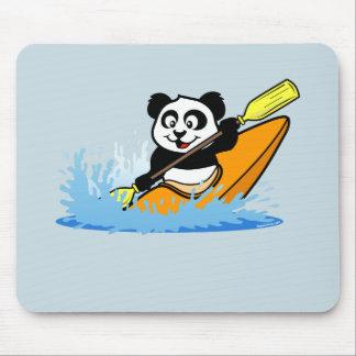 Kayaking Panda Mouse Mat