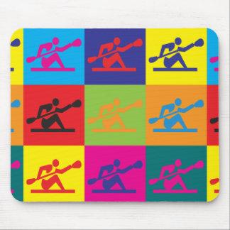 Kayaking Pop Art Mouse Mat