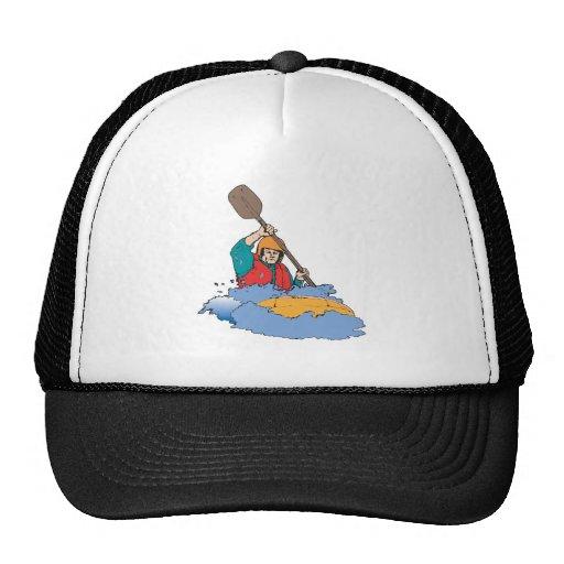 kayaking rafting graphic cap