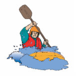 kayaking rafting graphic cut out