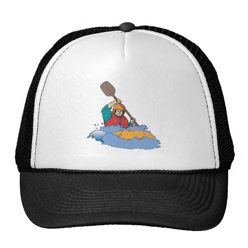 kayaking rafting graphic hat