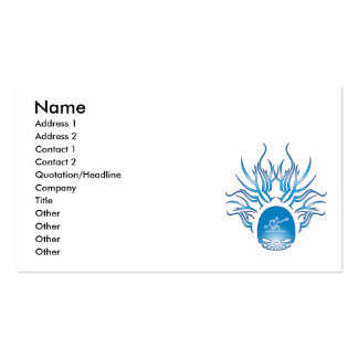 Kayaking Skull Business Card Templates