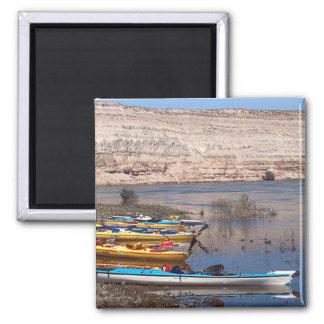 Kayaking Square Magnet