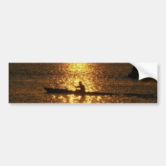 Kayaking Sunset Bumper Sticker