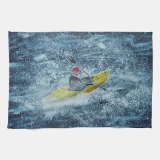 Kayaking tea towel