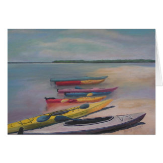 KAYAKING TRIP Greeting Card