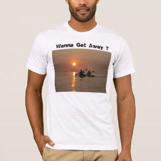 kayaking, Wanna Get Away ? T-Shirt