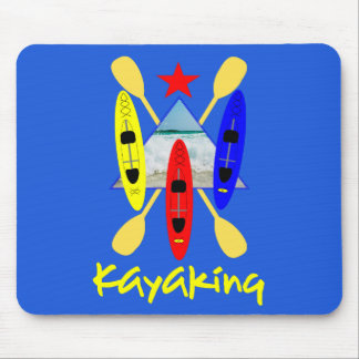 Kayaking Water Sports Themed Graphic Mouse Mat