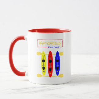 Kayaking Water Sports Themed Graphic Mug