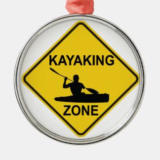 Kayaking Zone Christmas Ornament