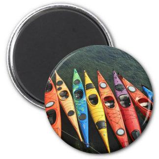 Kayaks! 6 Cm Round Magnet