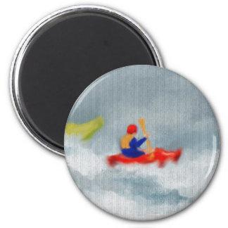 Kayaks Art 6 Cm Round Magnet