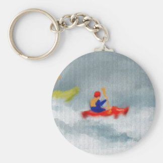 Kayaks Art Key Ring