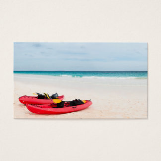 Kayaks at beach business card