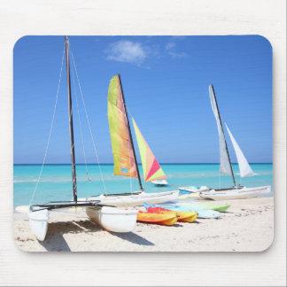 Kayaks, Catamarans And Kayaks| Cuban Beach Mouse Mat