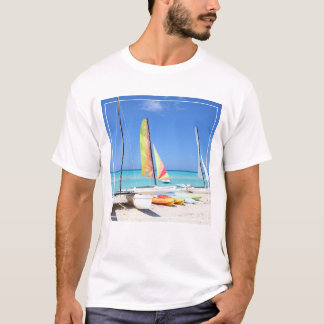 Kayaks, Catamarans And Kayaks| Cuban Beach T-Shirt