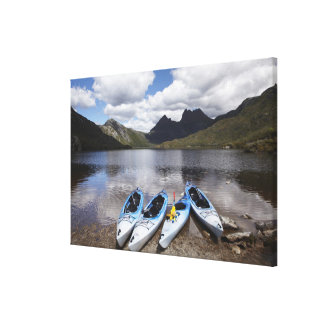 Kayaks, Cradle Mountain and Dove Lake, Cradle Canvas Print