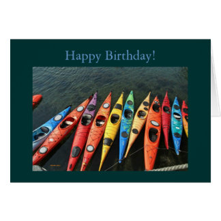 Kayaks, Happy Birthday! Greeting Card