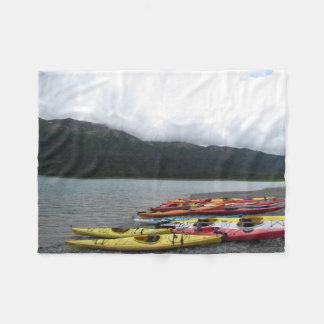 Kayaks & Lake Fleece Blanket