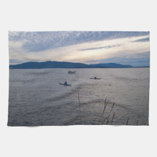 Kayaks On Bellingham Bay Tea Towel
