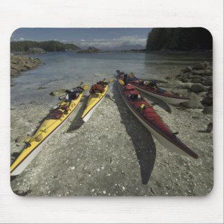 Kayaks on Dicebox Island, Broken Island Group, Mouse Mat