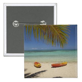 Kayaks on the beach, Plantation Island Resort 2 15 Cm Square Badge