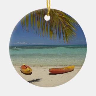 Kayaks on the beach, Plantation Island Resort 2 Christmas Ornament