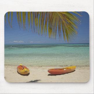Kayaks on the beach, Plantation Island Resort 2 Mouse Mat