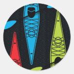 Kayaks RBG Round Stickers