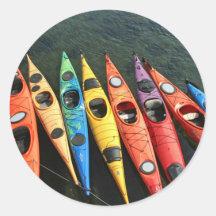 Kayaks! Round Sticker